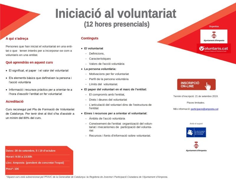 En marxa un curs d'iniciació al voluntariat per enfortir el teixit associatiu d'Amposta | Amposta.info