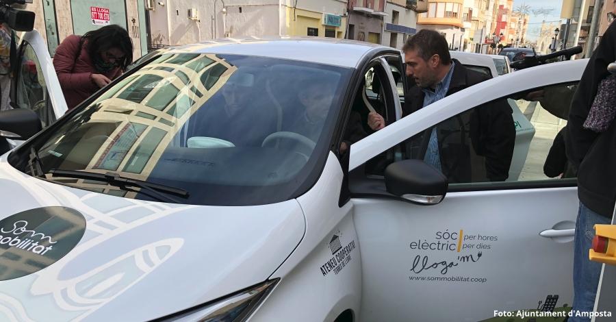 Amposta, pionera amb l'ús del vehicle elèctric compartit