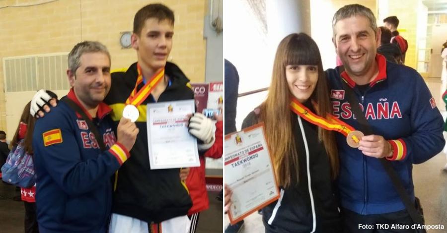 Andreu Pérez, plata al Campionat d'Espanya Junior de Taekwondo