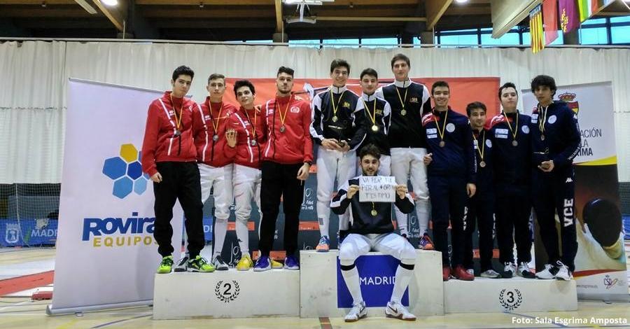 Àngel Fabregat, plata al Campionat d'Espanya d'esgrima a Madrid | Amposta.info