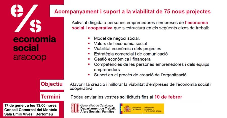 Acompanyament i suport a la viabilitat de 75 nous projectes