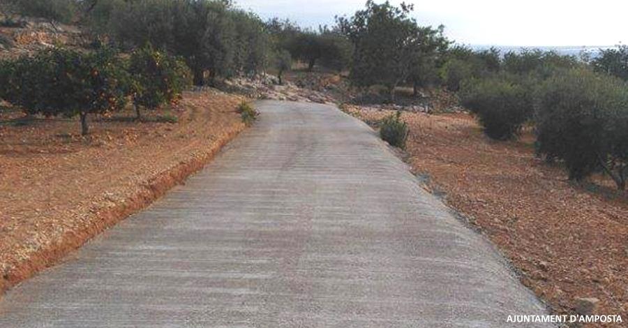 Treballs d'arranjament de camins rurals d'Amposta