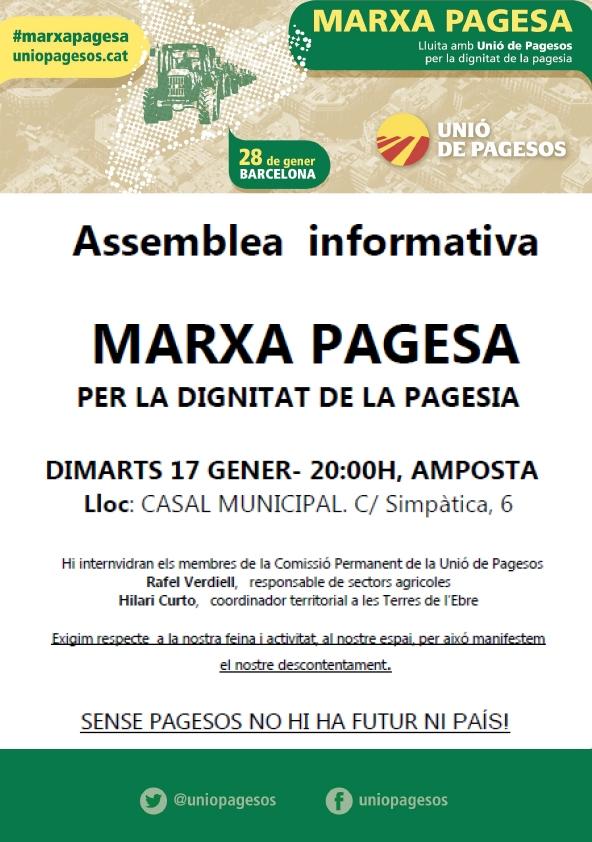 Assemblea informativa: «Marxa pagesa  per la dignitat de la pagesia»