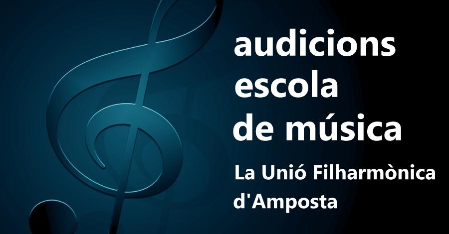 Audicions de pasqua de l'escola de música de La Unió Filharmònica d'Amposta