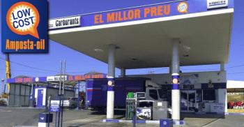 Amposta Oil. Serveis de venda de carburants, zona de rentat, bar-cafeteria