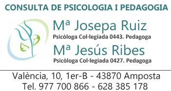 Consulta de psicologia i pedagogia Mª Josepa Ruiz i Mª Jesús Ribes
