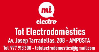 TOT ELECTRODOMÈSTICS. La teua botiga d´electrodomèstics i tecnologia a Amposta. Av. Josep Tarradellas, 208. Tel. 977 913 300