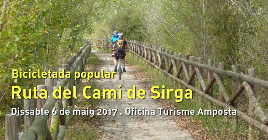 Bicicletada popular «Camí de Sirga»