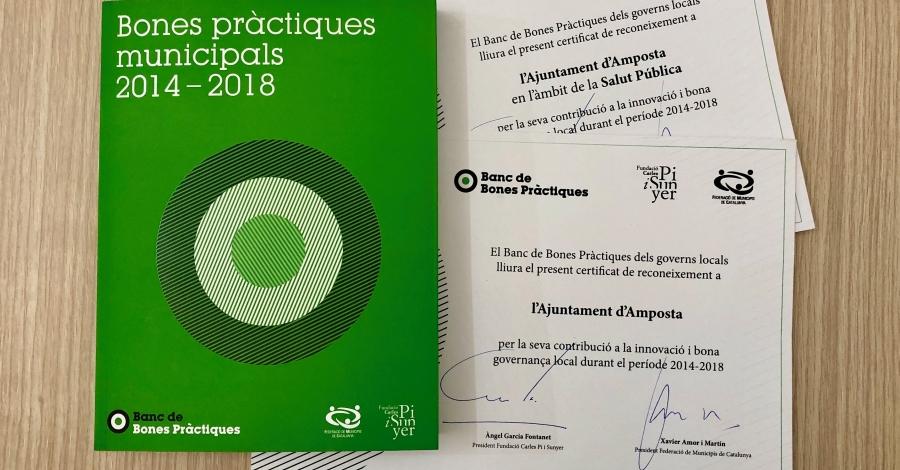 El programa «Salut+Social» de l'Ajuntament és reconegut amb el Certificat de Bones Pràctiques