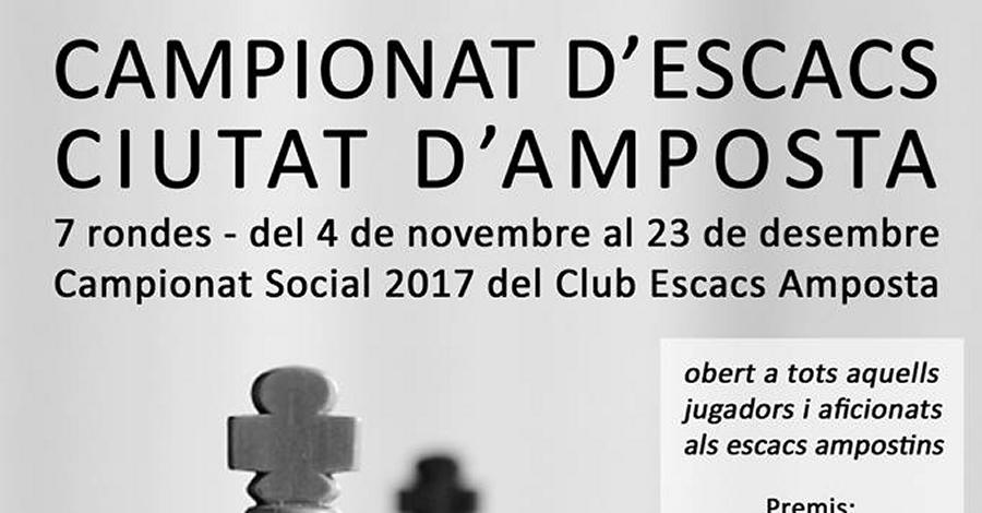 Campionat d'escacs Ciutat d'Amposta 2017