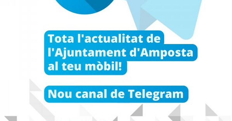 L'Ajuntament d'Amposta obre un canal de Telegram per difondre l'actualitat municipal