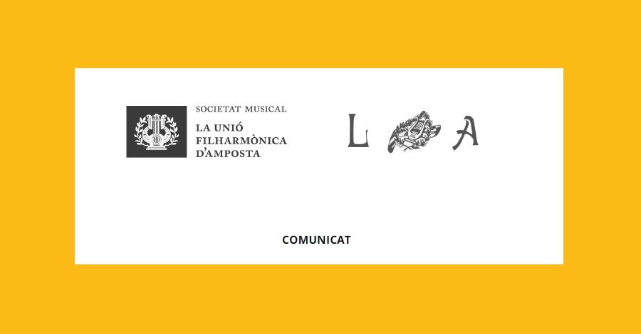 Comunicat conjunt de les societats musicals La Lira i La Fila