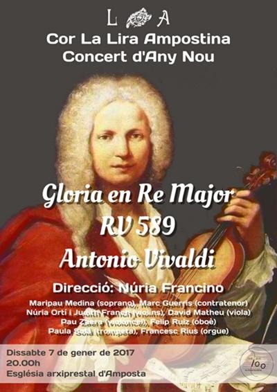 Concert d'any nou, a càrrec del cor de La Lira Ampostina