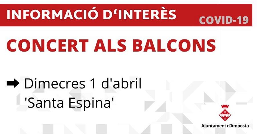 Concert als balcons: «La Santa Espina»