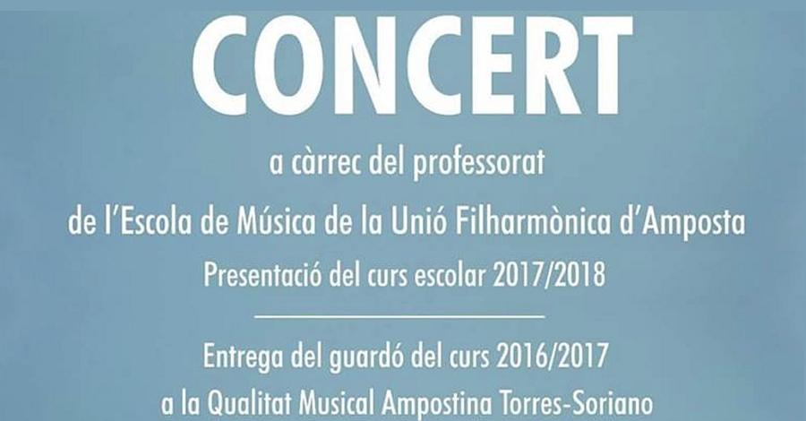 Concert a càrrec del professorat de la Unió Filharmònica d'Amposta
