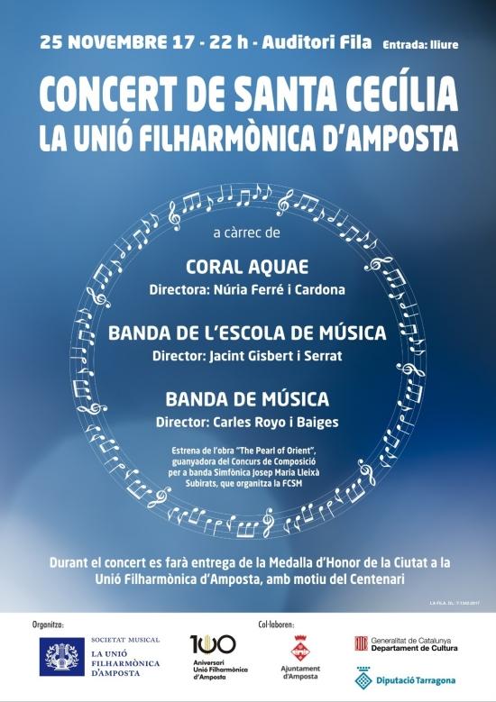 Concert de Santa Cecília de la Unió Filharmònica d'Amposta