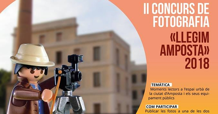 """II Concurs de fotografia """"Llegim Amposta 2018"""". Termini d'admissió d'obres"""