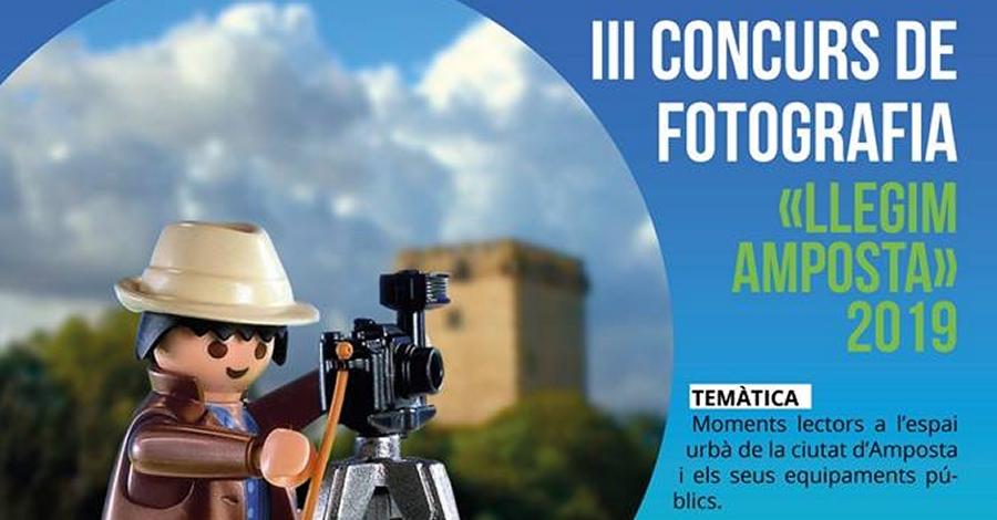 """III Concurs de fotografia """"Llegim Amposta"""""""