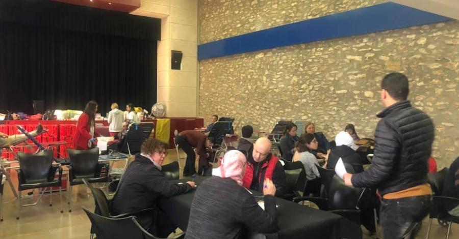 Amposta solidària amb la campanya «Els Bombers t'acompanyen a donar sang»