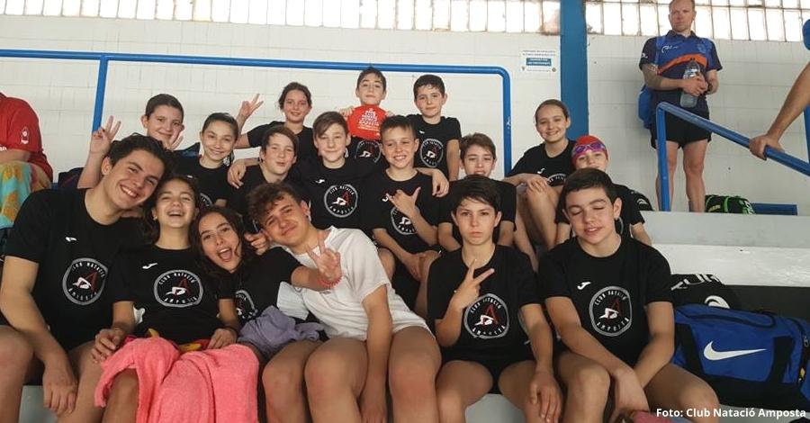 Exitosa actuació del Club Natació Amposta al Campionat Provincial de Natació