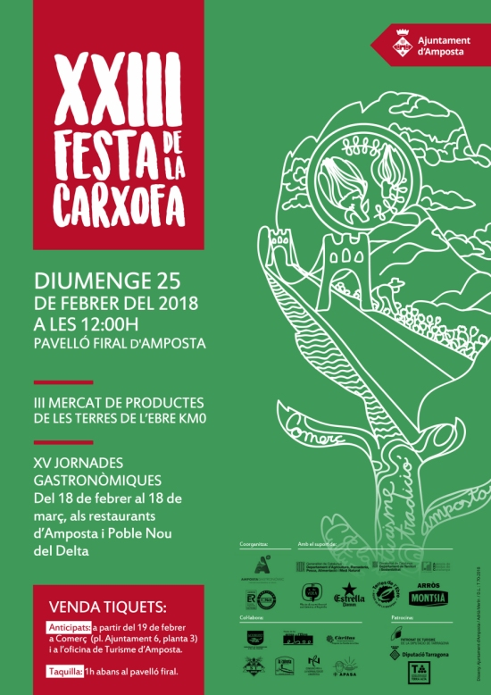 XXIII Festa de la Carxofa. Mercat de productes de les Terres de l'Ebre de Km.0