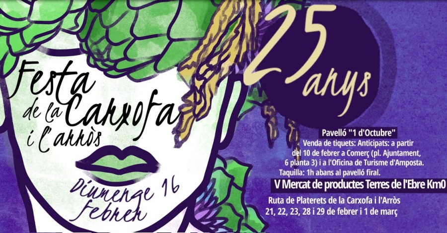 25a Festa de la Carxofai l'Arròs i 5è Mercat de Productes de les Terres de l'Ebre