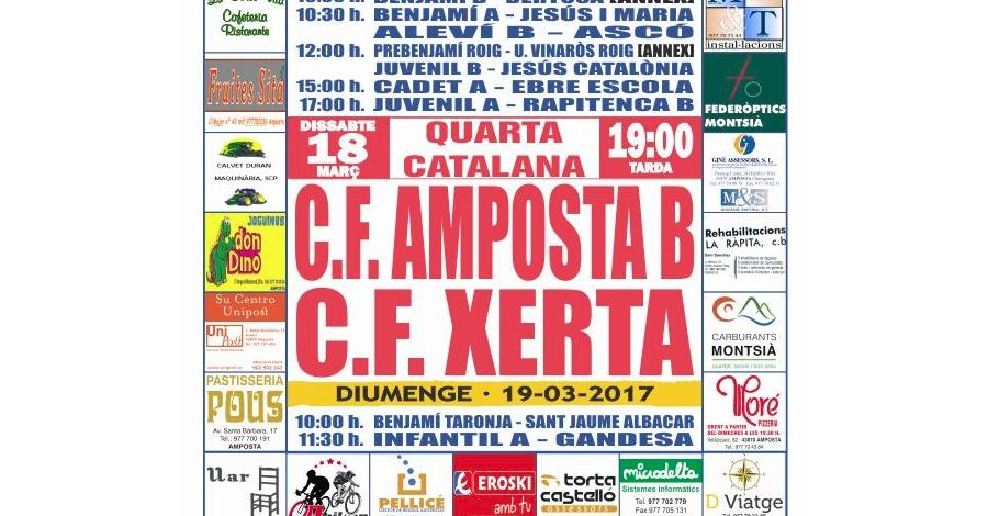 Futbol: CF AMPOSTA - CE XERTA