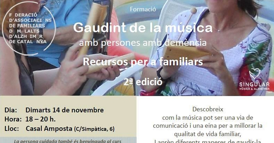 Xerrada: Gaudint de la música amb persones amb demència