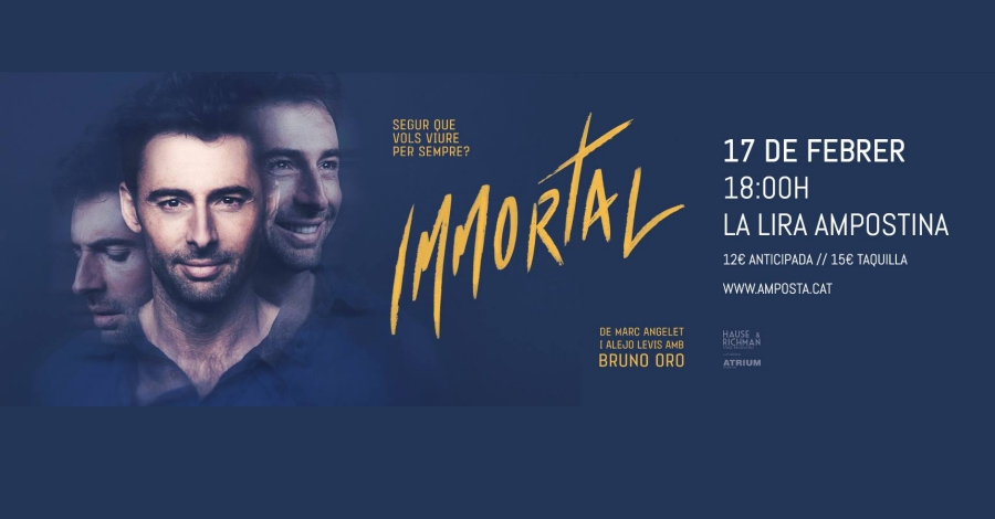 «Immortal», obra dramàtica futurista a càrrec de Bruno Oro