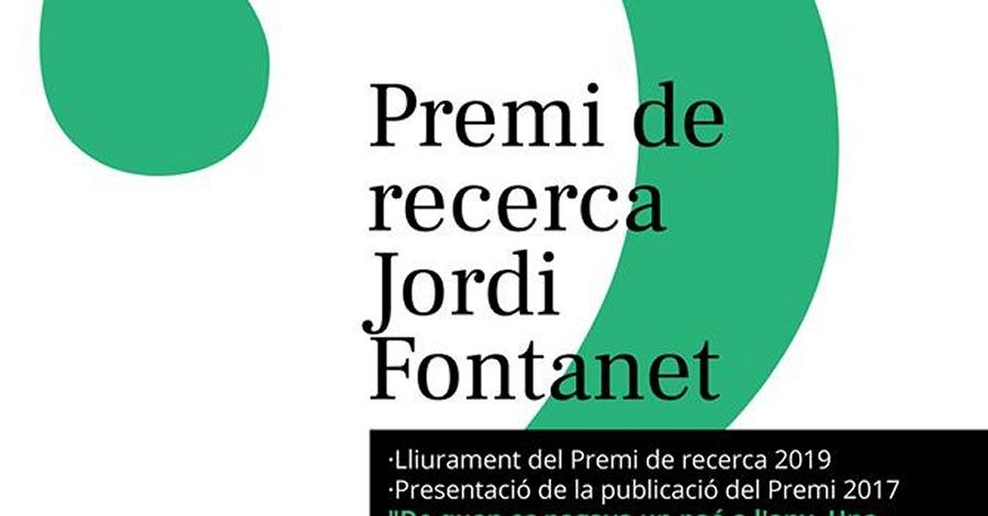 Lliurament del Premi de recerca Jordi Fontanet