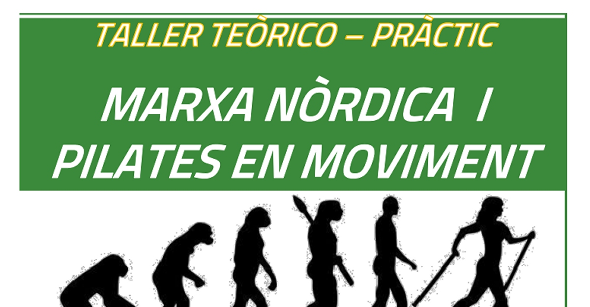 Marxa nòrdica i pilates en moviment