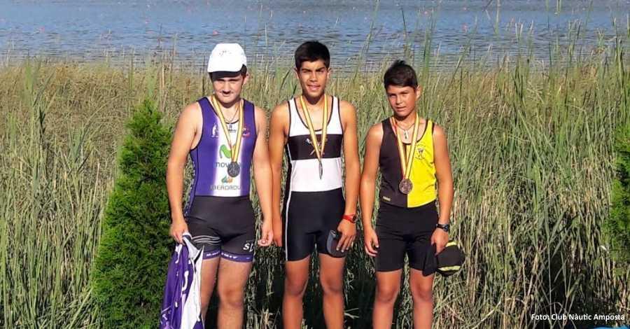 El Club Nàutic Amposta aconsegueix una medalla d'or, una de plata i una de bronze