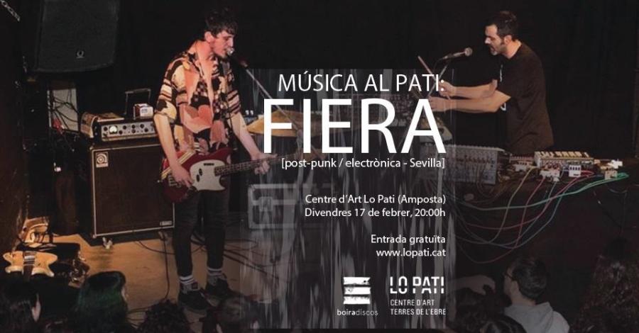 La música experimental de Fiera, demà divendres a Lo Pati