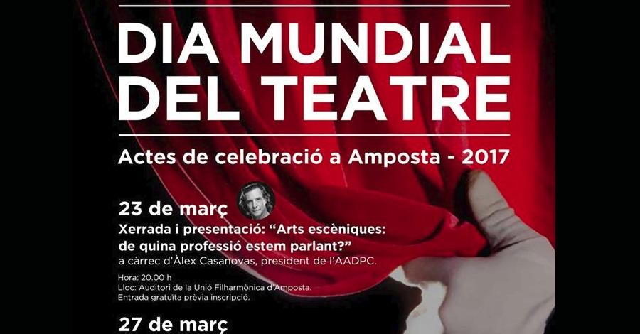 """Dia Mundial del Teatre. Xerrada i presentació:""""Arts escèniques: de quina professió estem parlant?"""""""