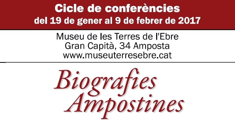 Nou cicle de de conferències Biografies Ampostines
