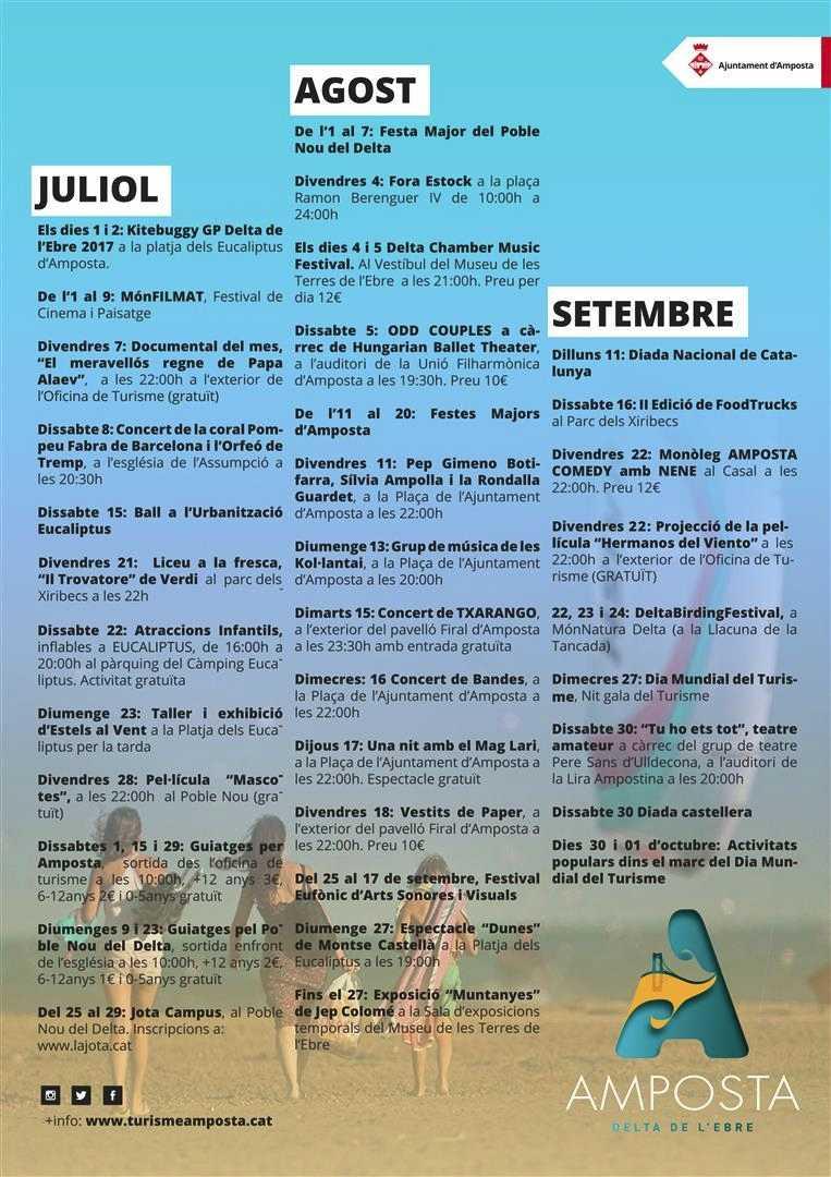 Música, festa, tradicions i modernitat en un estiu ple d'activitats | Amposta.info