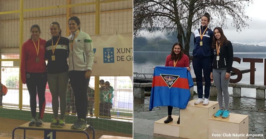 Victòria Cid i Núria Puig, or i plata als Campionats d'Espanya de Llarga Distància i Ergòmetre