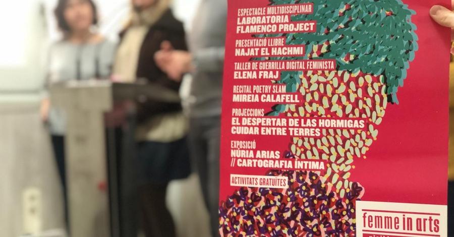 Amposta commemora el Dia internacional per a l'eliminació de la violència envers les dones amb la tercera edició de Femme in Arts i activitats als instituts