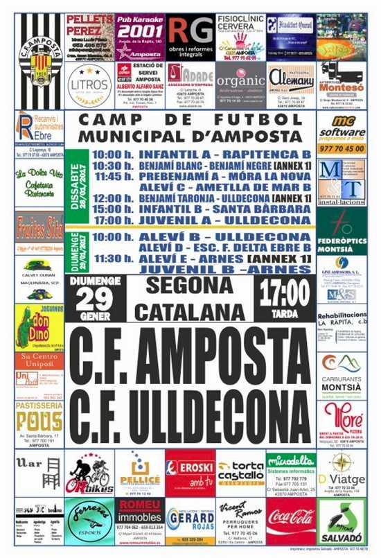 Futbol: C.F. AMPOSTA - C.F. ULLDECONA