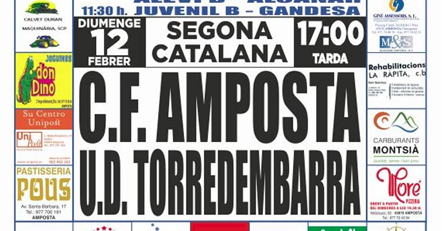 Futbol: C.F. AMPOSTA - TORREDEMBARRA (2a Catalana)