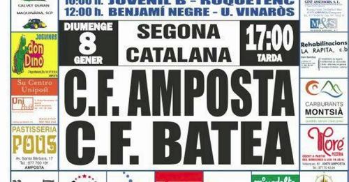 Futbol: C.F. AMPOSTA - C.F. BATEA