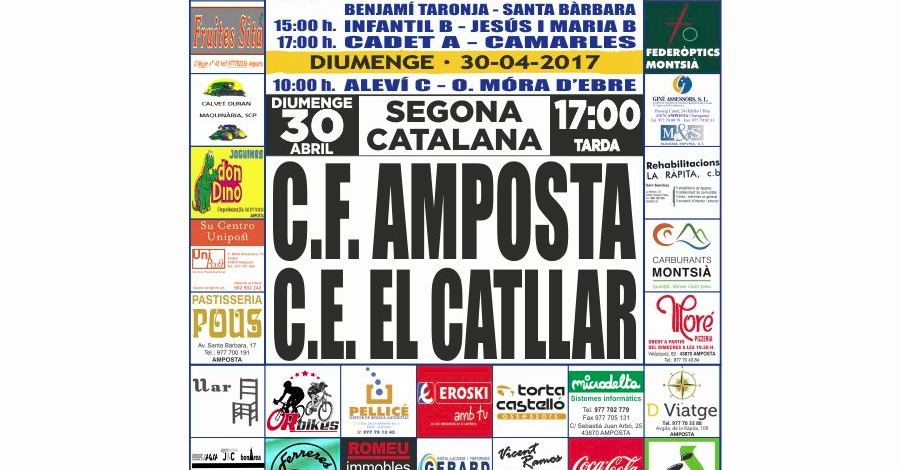 Futbol: CF AMPOSTA - CE EL CATLLAR