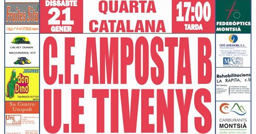 Futbol: CF AMPOSTA B - UE TIVENYS - Quarta Catalana