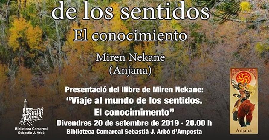 """Presentació del llibre """"Viaje al mundo de los sentidos. El conocimiento"""", de Miren Nekane"""