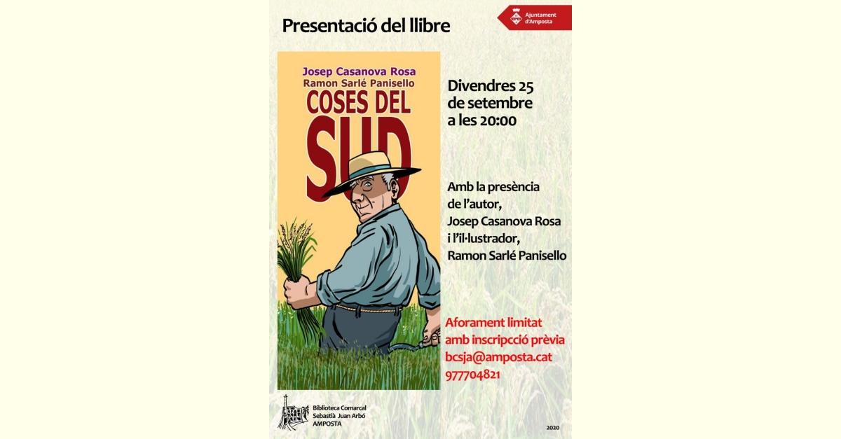 Presentació del còmic Coses del sud, l'autor ampostí Josep Casanova i Ramon Sarlé