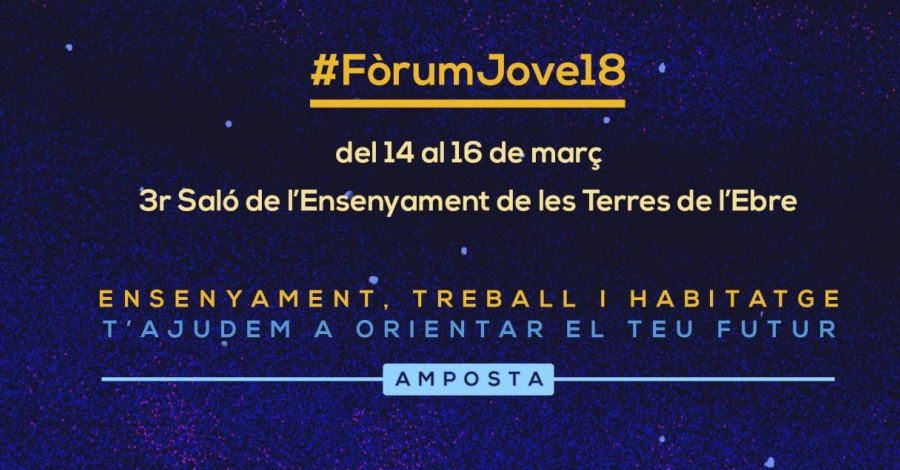 El #FòrumJove18 reunirà prop d'una cinquantena d'expositors i més de 1.400 estudiants