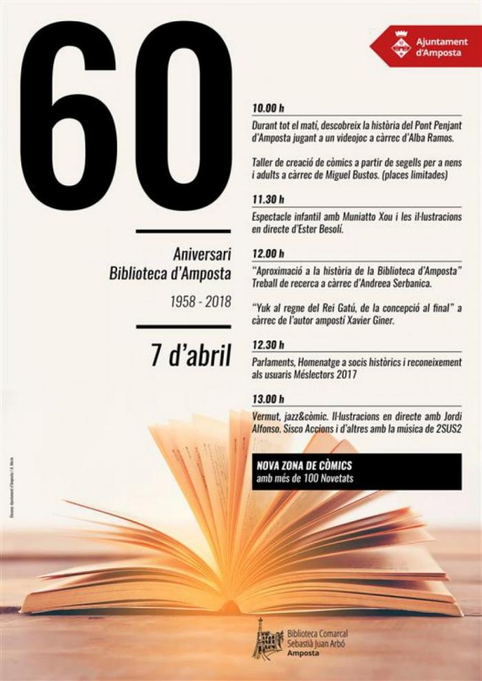La Biblioteca d'Amposta celebra el 60è aniversari | Amposta.info