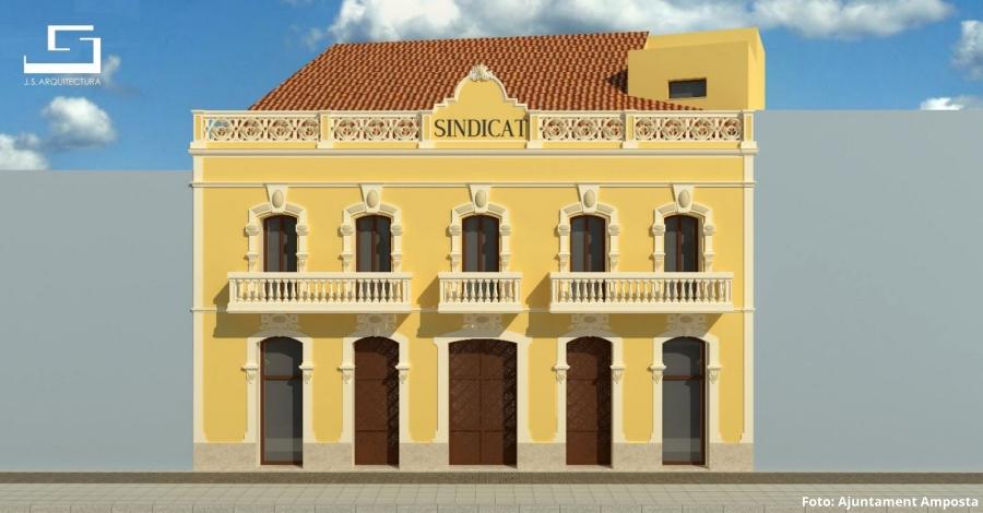 La rehabilitació del Sindicat suposarà una inversió de prop d'1 milió d'euros
