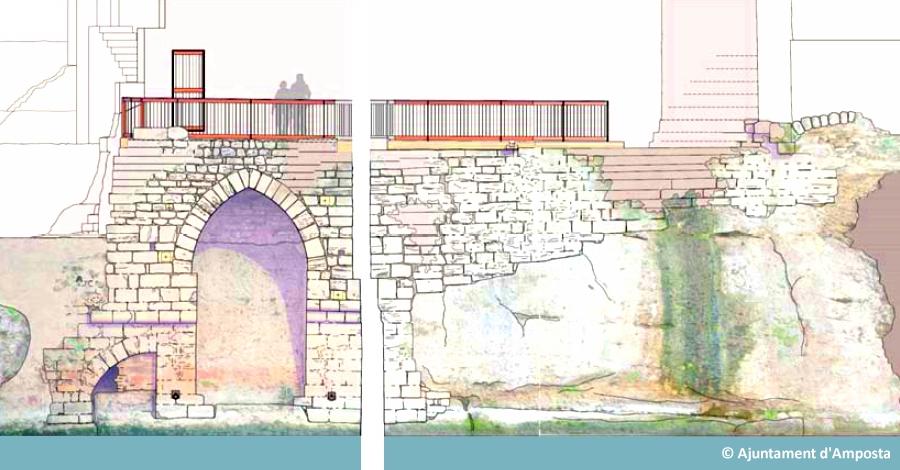 Amposta inicia la recuperació de la façana fluvial del castell | Amposta.info
