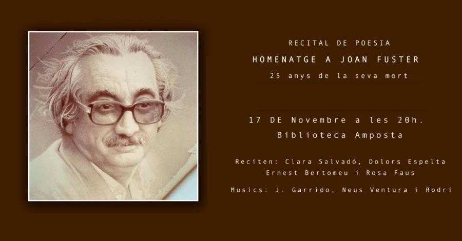 Recital de poesia. Homenatge a Joan Fuster pels 25 anys de la seva mort